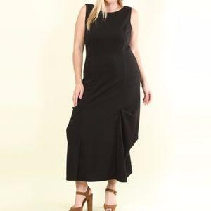 Dresses & Skirts - Plus Size Black Ruched Sides Sleeveless Maxi Dress